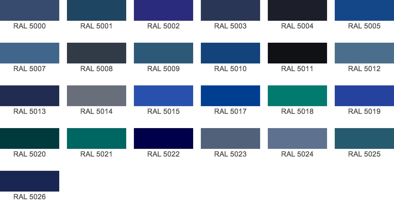 Ral kleuren benedict - Kleur blauwe verf ...