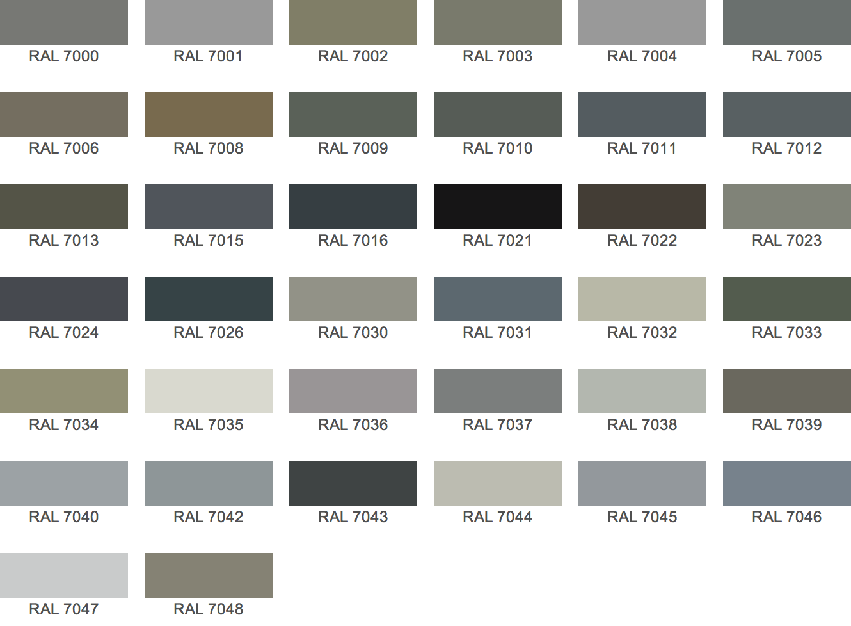 Ral kleuren benedict - Kleurenkaart grijze verf ...