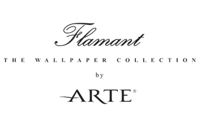 Benedict Huysentruyt Logo behangpapier Arte Wallcoverings flamant