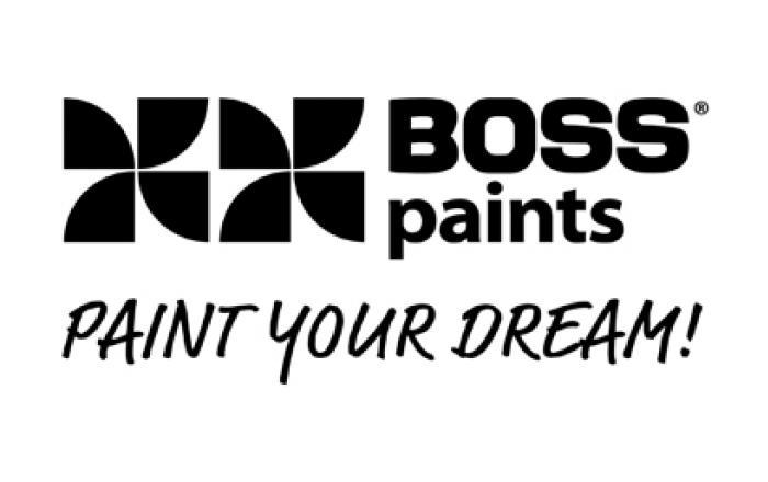 Benedict Huysentruyt Logo verf behang toebehoren Boss Paints
